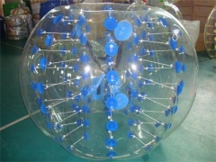 Various Styles Blue Color Dots Bubble Soccer Ball