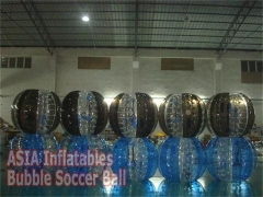 Various Styles Half Color Inflatable Bubble Suit