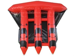 6 seats Red Inflatable Flying Fish