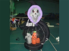 Grim Reaper With Globe Inflatable