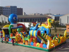 Dragon Fun House and Octopus Slide Combo