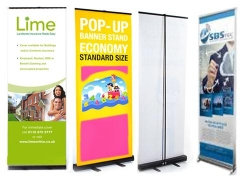 Pop-up Banner stehen