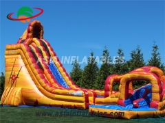 Inflatable Lava Twist Water Slide