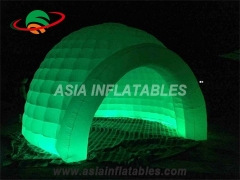 Inflatable lighted tent with led for event