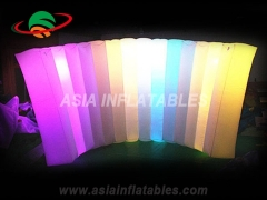 LED light event inflatable wall