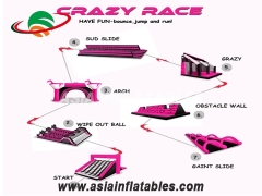 Inflatable 5K Obstacle Race Run