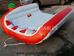 Durable 2 Person Water Sports Floating Platform Inflatable FlyingTube Towable