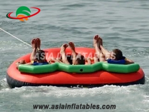 Inflatable Towable 3 Person Floating Towable Water Ski Tube Raft on Sales
